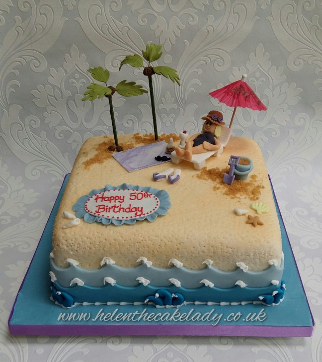Beach Birthday Cake Holiday Beach Birthday Cake Helen Flickr