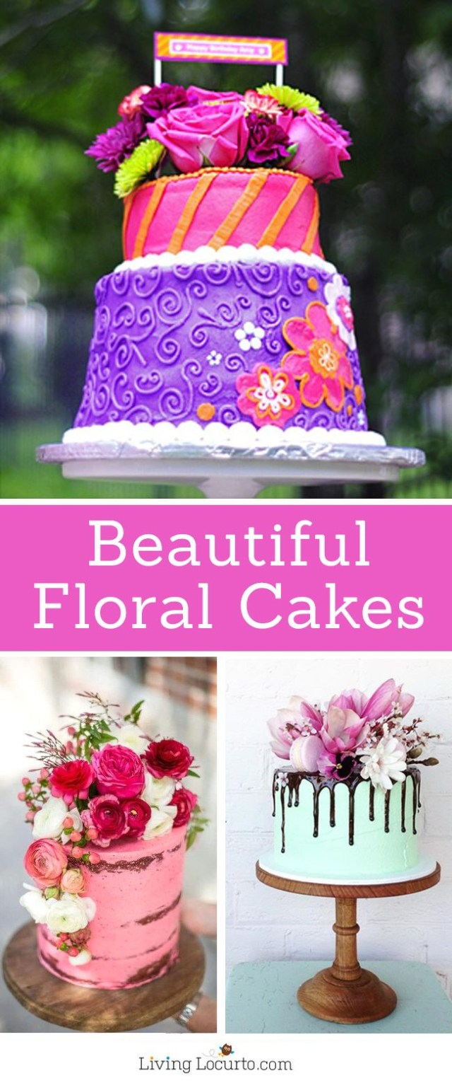 Beautiful Birthday Cake Floral Cakes Pretty Ideas