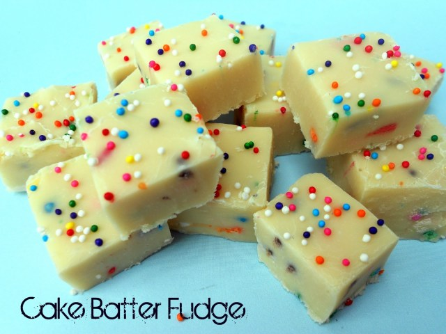 Birthday Cake Fudge White Chocolate Batter Recipe Six Sisters Stuff