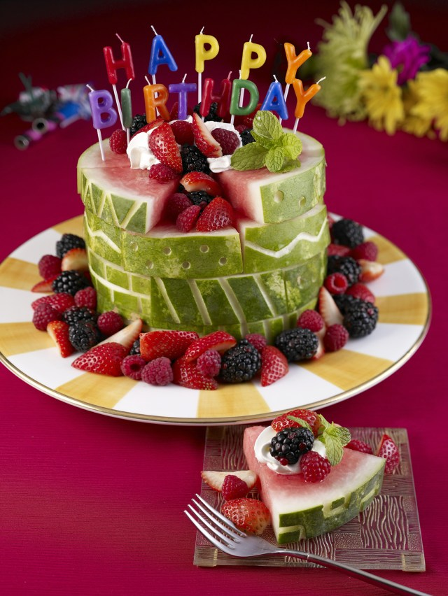 Birthday Cake Image Watermelon Board Birthday Cake