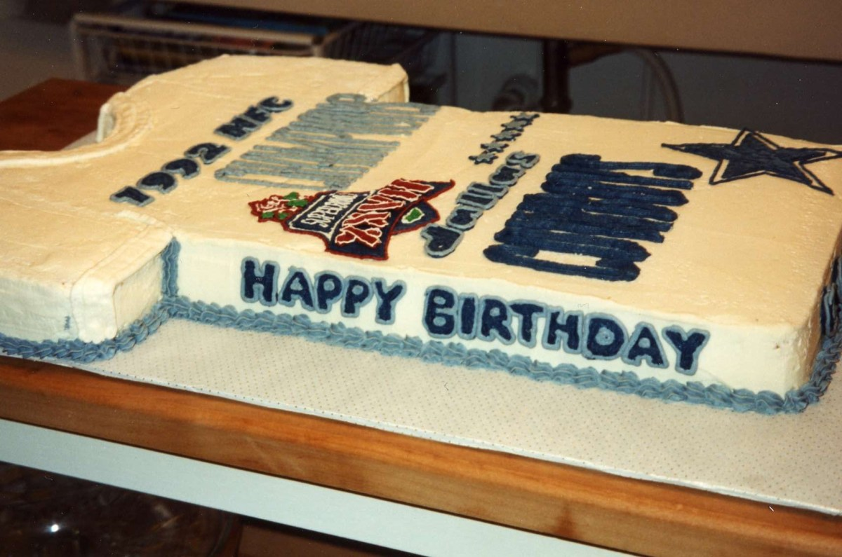 Birthday Cakes Dallas Cake Cowboy T Shirt For Cosmo Cakecentral