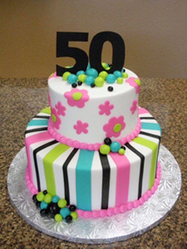 Birthday Cakes For Women 9 50th Photo Cake
