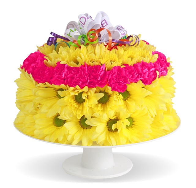 Birthday Flower Cake Home Fresh Flower Birthday Cake Columbus Oh Florist Flowerama