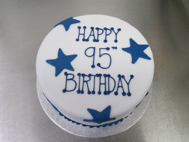 Blue And White Birthday Cake Starry Blue And White 95th Birthday Cake Crumbs Cake Shop Sheffield