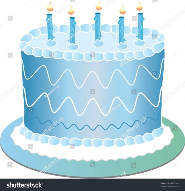 Blue Birthday Cake Clip Art Illustration Blue Birthday Cake Stock Illustration 84727984