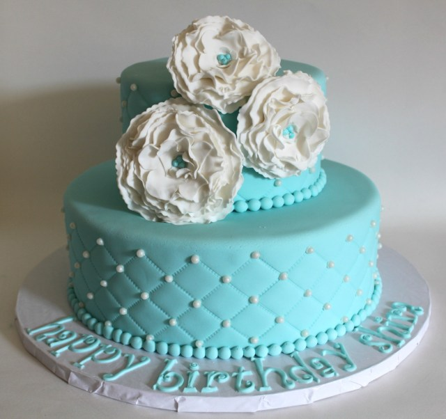 Blue Birthday Cake Tiffany Blue Quilted Birthday Cake Lil Miss Cakes