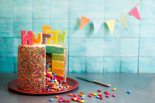 Cake Pictures Birthday Rainbow Piata Birthday Cake Cake Recipes Sbs Food