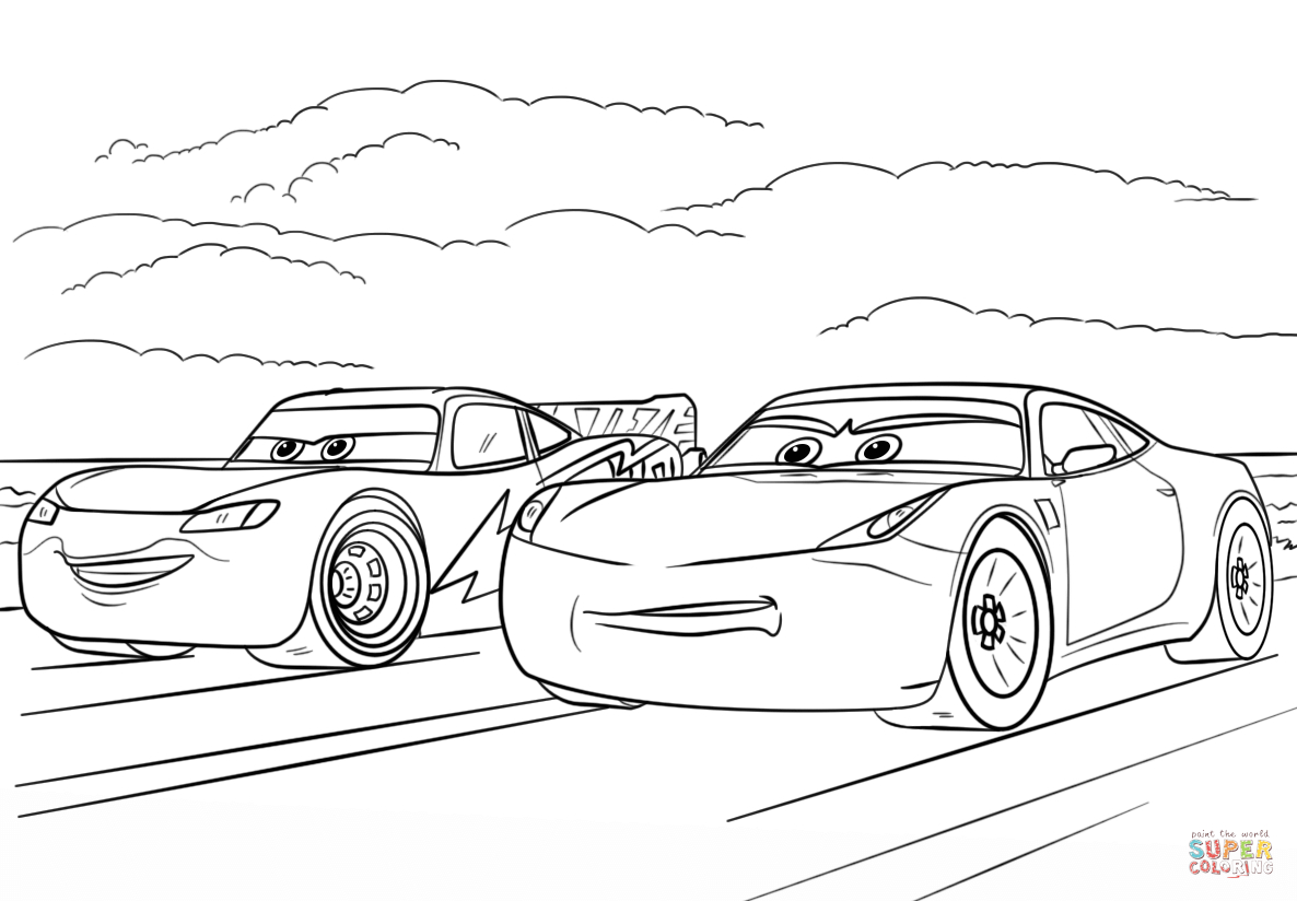 Cars 3 Coloring Pages Mcqueen And Ramirez From Cars 3 Coloring Page