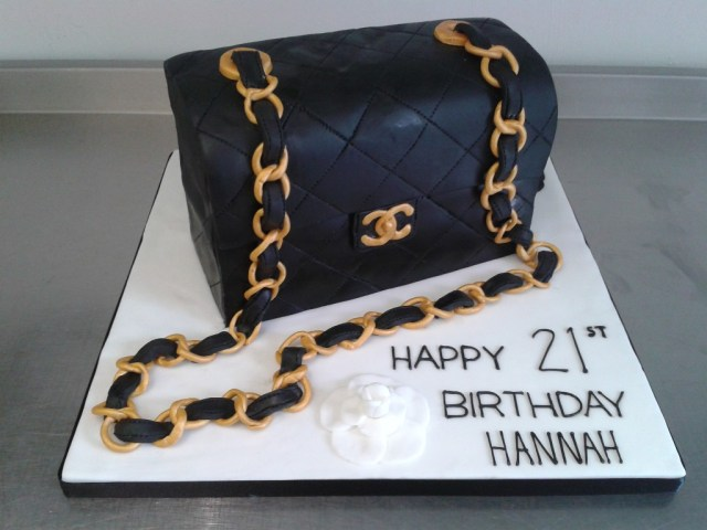 Chanel Birthday Cake Coco Chanel Handbag 21st Birthday Cake Crumbs Cake Shop Sheffield