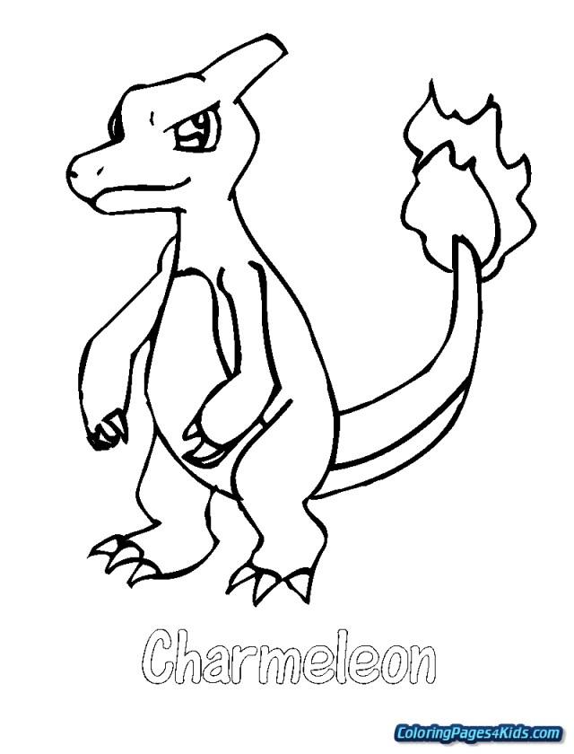 Charmander Coloring Page Pokemon Charmander Coloring Page Free Printable Coloring Pages