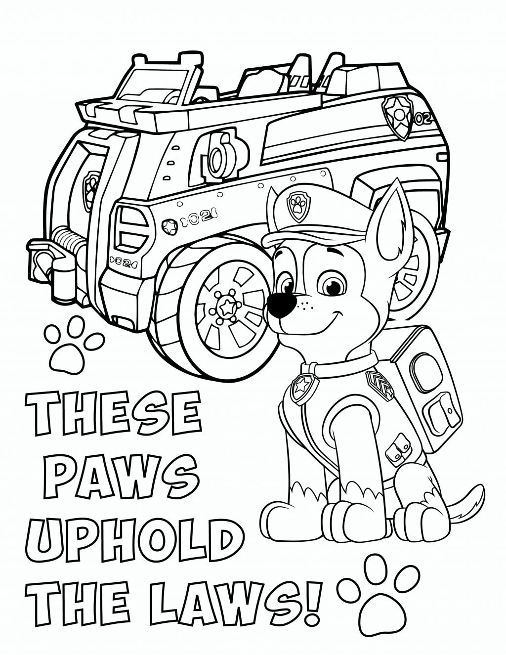 Chase Paw Patrol Coloring Page Coloring Pages Pawatrol