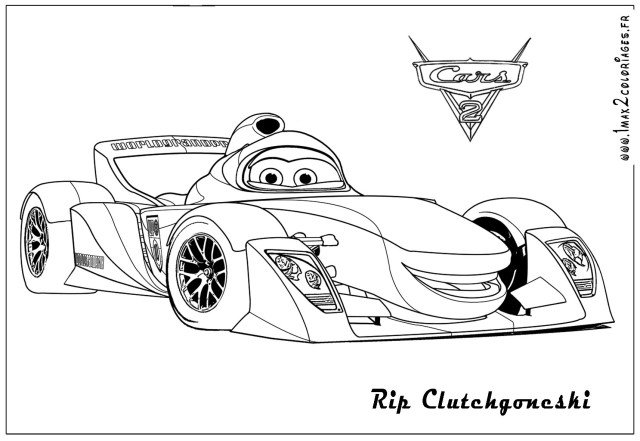 Coloring Pages Of Cars Cars 2 For Kids Cars 2 Kids Coloring Pages