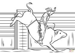 Cowboy Coloring Pages Cowboy Riding A Bull Coloring Page Free Printable Coloring Pages