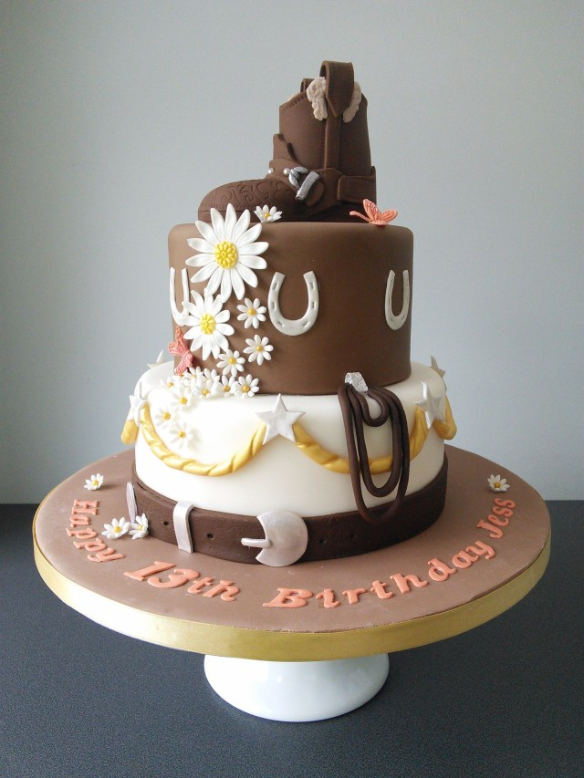 Cowgirl Birthday Cake Horse Riding Cowgirl Birthday Cake Cowgirl Birthday Party