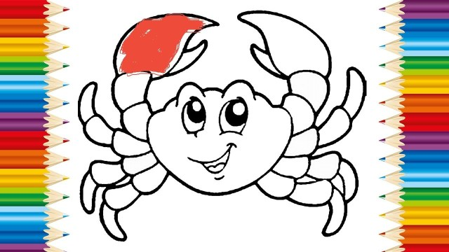Crab Coloring Pages Crab Coloring Pages For Kids And Learning How To Draw Crab Videos
