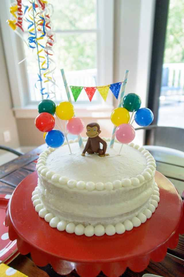 Curious George Birthday Cakes Simple Curious George Birthday Party Decor And The Dog