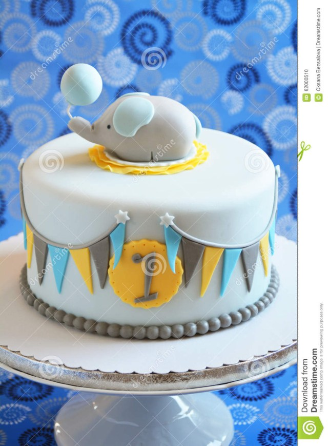 Cute Birthday Cakes Cute Birthday Cake For A Child Stock Photo Image Of Baking