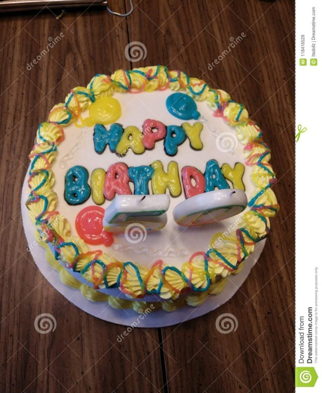 Dairy Queen Birthday Cakes Birthday Cake Stock Image Image Of Candles Birthday 118416529
