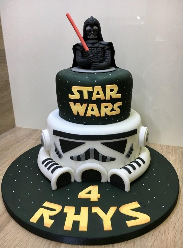 Darth Vader Birthday Cake Star Wars Darth Vader Stormtrooper Birthday Cake Lanes 6th