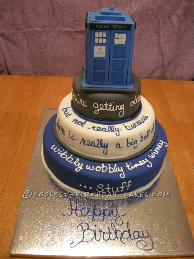 Doctor Who Birthday Cake Cool Doctor Who Tardis Cake I 3 3 The Doctor Pinterest