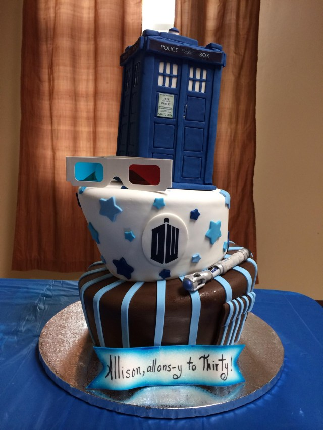Doctor Who Birthday Cake Doctor Who Cake For My Wifes Thirtieth Birthday Doctor Who