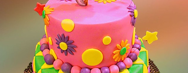 Dora Birthday Cakes Colorful Two Tier Dora Birthday Cake Cakes Birthday Cake Dora