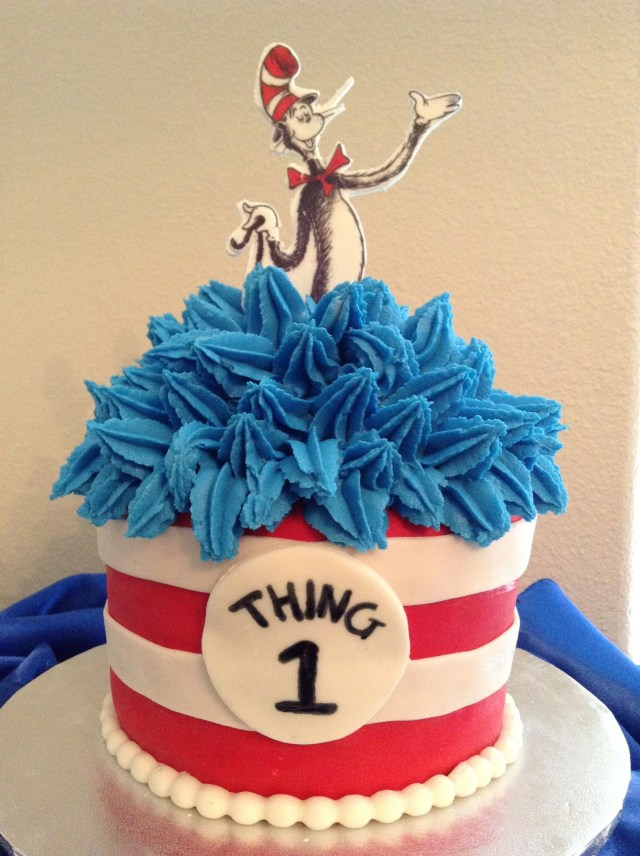 Dr Seuss Birthday Cakes Cat In The Hat Cake Cat Hat Cake Pinterest Cake Birthday And