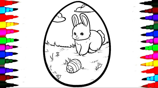 Easter Egg Coloring Page Coloring Giant Easter Egg Coloring Page Videos For Children Learning