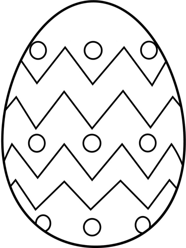 Easter Egg Coloring Page Coloring Page Easy Easter Egg Coloring Pages Printable Page