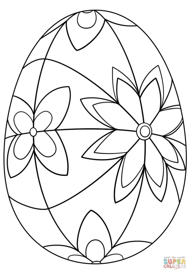 Easter Egg Coloring Page Detailed Easter Egg Coloring Page Free Printable Coloring Pages