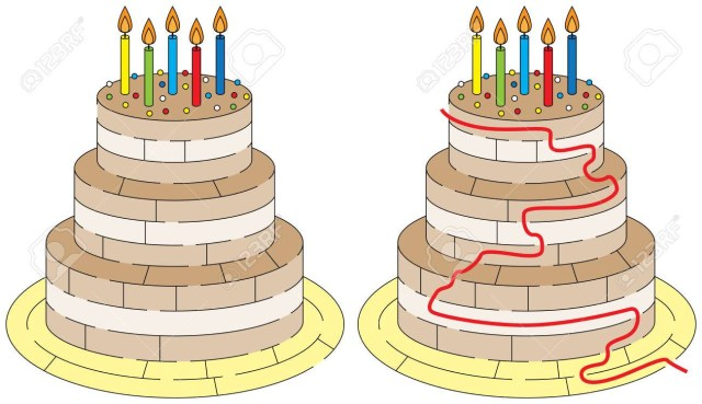 Easy Birthday Cake Easy Birthday Cake Maze For Younger Kids With A Solution Royalty