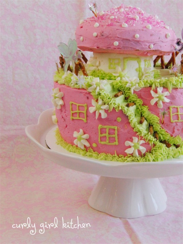 Fairy Birthday Cake Curly Girl Kitchen A Fairy Cake For Brynns Fairy Birthday Party