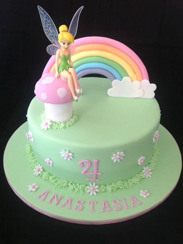 Fairy Birthday Cake Tinkerbell Cake Love The Simplicity Of This One Tinkerbell