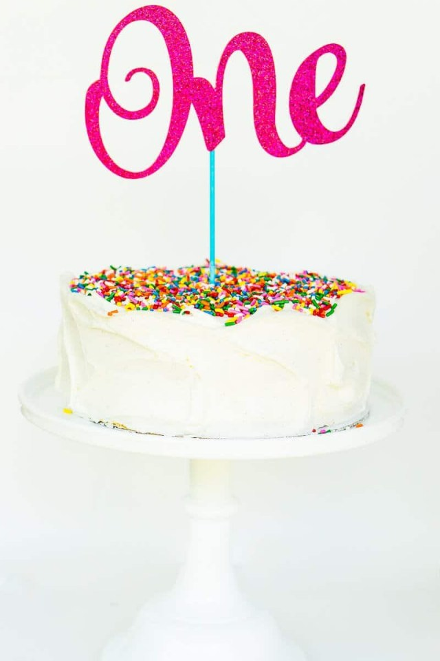 First Birthday Cake Ideas The Easiest Custom Birthday Cake Toppers Youll Ever Make