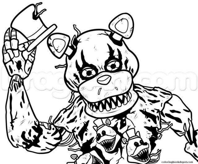 Five Nights At Freddy's Coloring Pages Coloring Pages Interesting Fnaf Mangle Coloring Pages Five Nights
