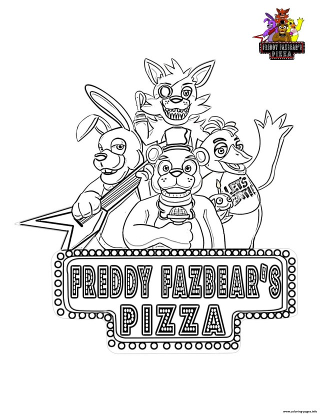 Five Nights At Freddy's Coloring Pages Five Nights At Freddys Fnaf Coloring Pages Printable