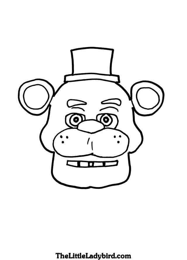 Five Nights At Freddy's Coloring Pages Free Five Nights At Freddys Coloring Pages Thelittleladybird