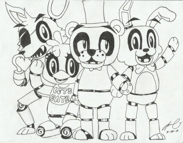 Five Nights At Freddy's Coloring Pages Wealth Five Nights At Freddy S Characters Coloring Pages Best Of 5