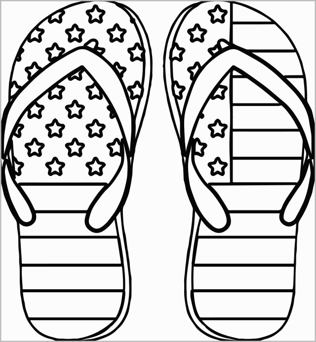 Flip Flop Coloring Pages Flip Flop Coloring Pages Free Printable 8 4th Of July Color Lovely