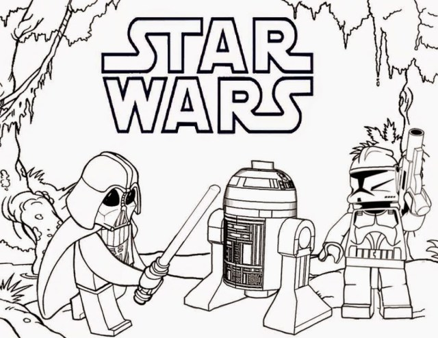 Free Star Wars Coloring Pages Coloring Pages Lego Star Wars Coloring Pages Darth Vader And R2