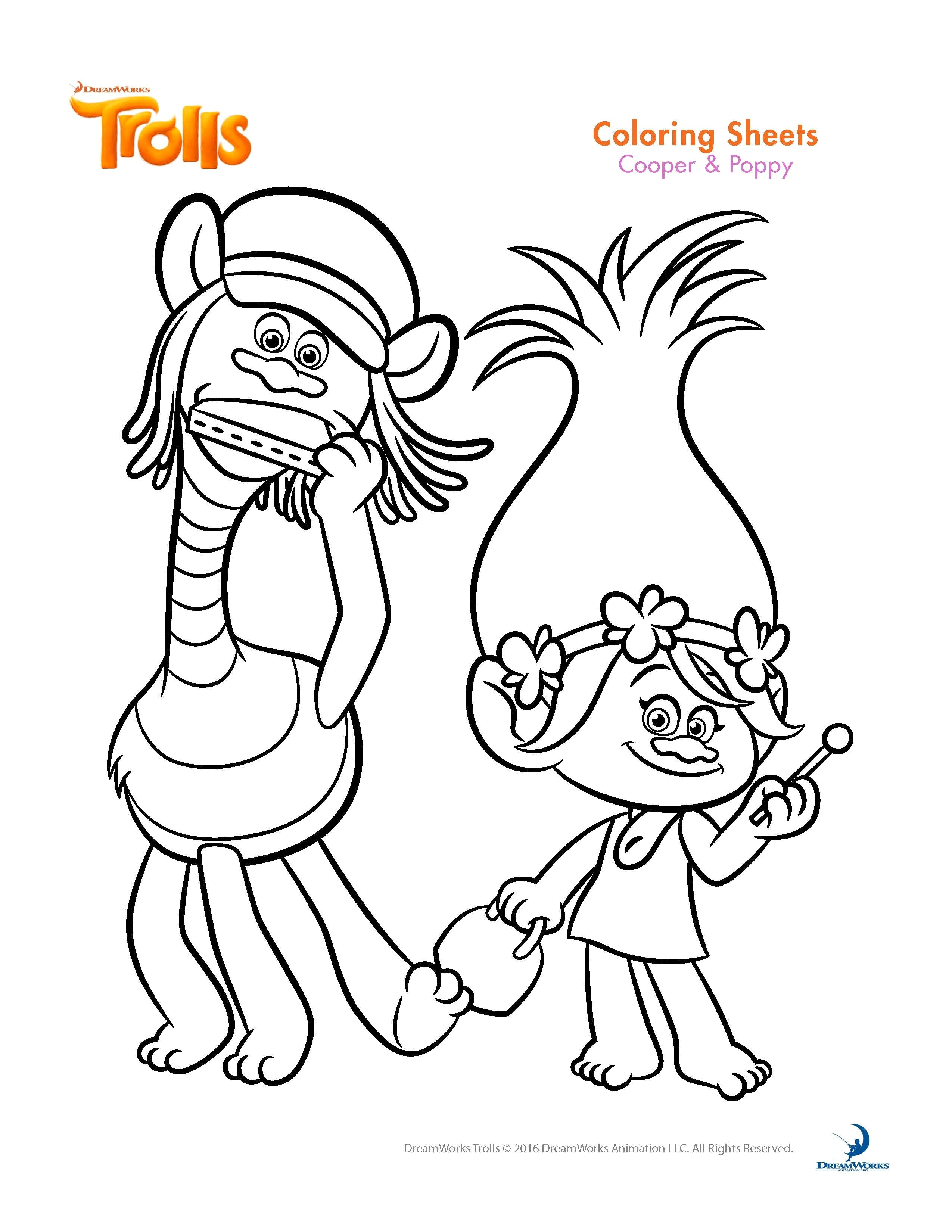 Free Trolls Coloring Pages Trolls Coloring Sheets And Printable