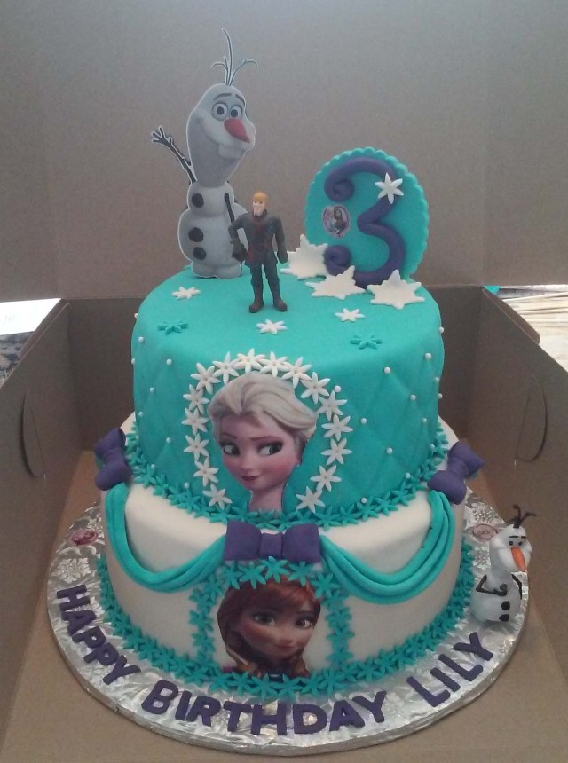 Frozen Themed Birthday Cake 2 Tier Elsa And Anna Frozen Themed Birthday Cake Cakecentral