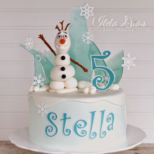 Frozen Themed Birthday Cake I Love Doing All Things Crafty Frozen Themed Birthday Cake And Card