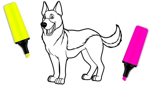 German Shepherd Coloring Pages Coloring For Kids With German Shepherd Dog Coloring Pages For