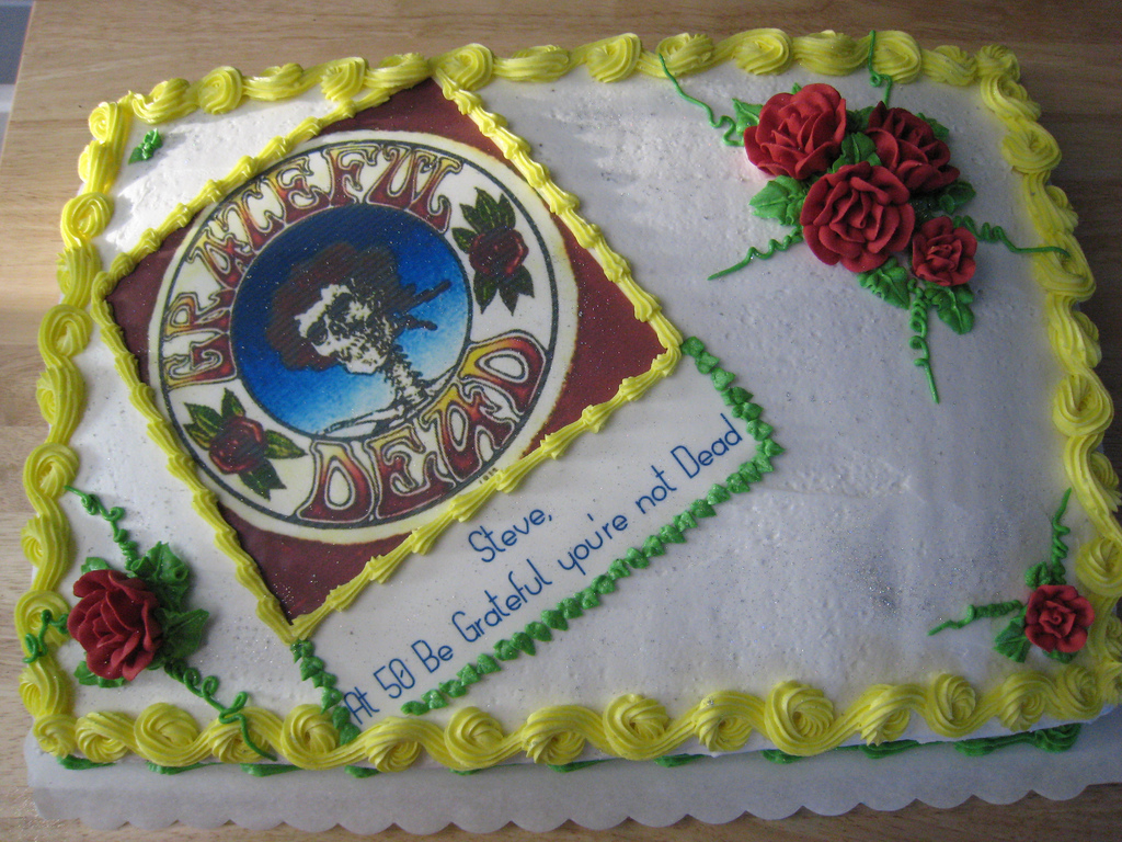 Grateful Dead Birthday Cake Grateful Dead 50th Birthday Cake Connie May Flickr