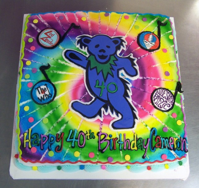 Grateful Dead Birthday Cake Rock And Roll Birthday Cake Le Bakery Sensual