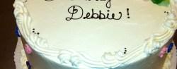 Happy Birthday Debbie Cake Happy Birthday Debbie