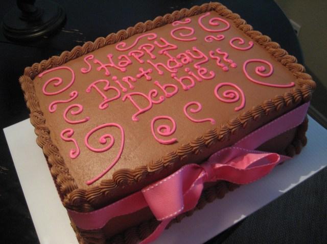 Happy Birthday Debbie Cake Simple Cakes Kimberlys Kakery Blog