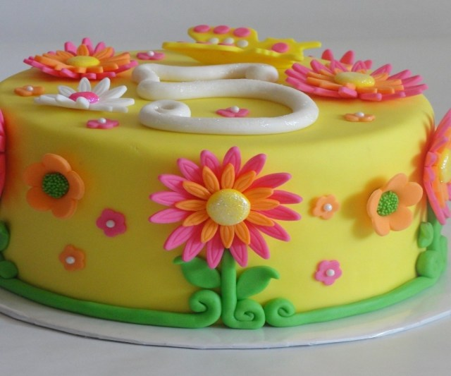 Happy Birthday Flowers And Cake Divine Summer Flowers Cake Birthday Cake Ideas As Wells As Girls