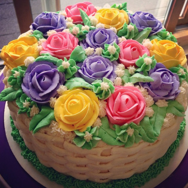 Happy Birthday Flowers And Cake Happy Birthday Bouquet Cake My Cakes Pinterest Cake Birthday